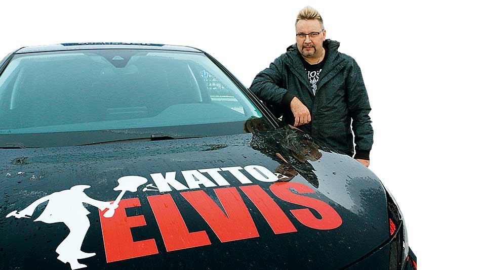 Katto Elvis on kattotöiden kokenut ammattilainen