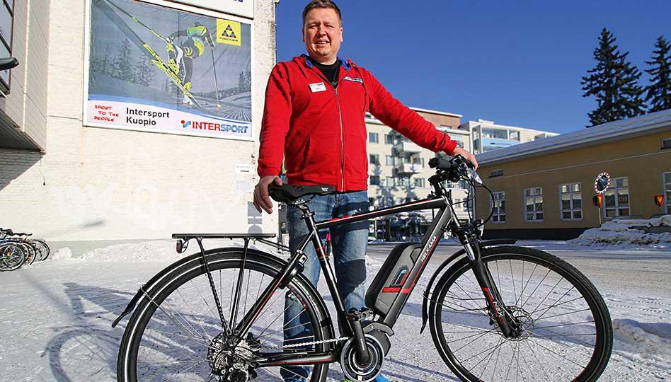 Sähköpyörä on Kuopion nopein kulkuväline