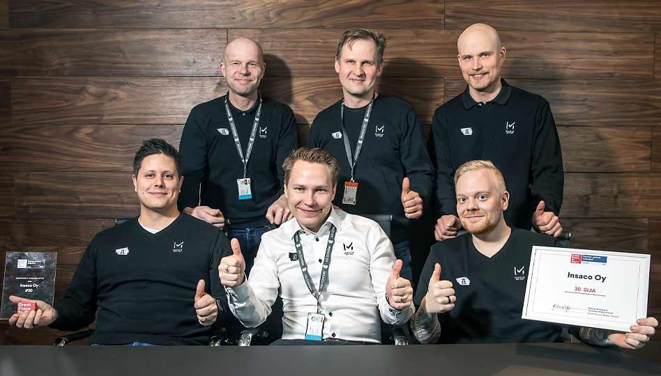 Insaco Oy on jälleen yksi Suomen parhaita työpaikkoja