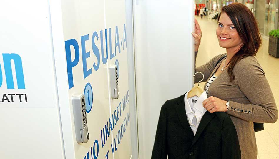 Pesula-automaatti auttaa kiireisen arjessa