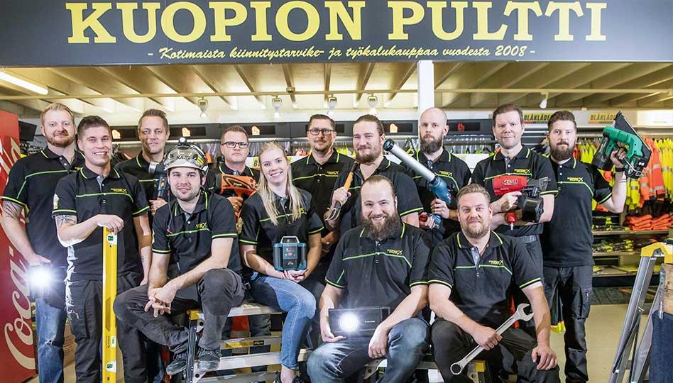 Ammattirakentaja luottaa Kuopion Pulttiin