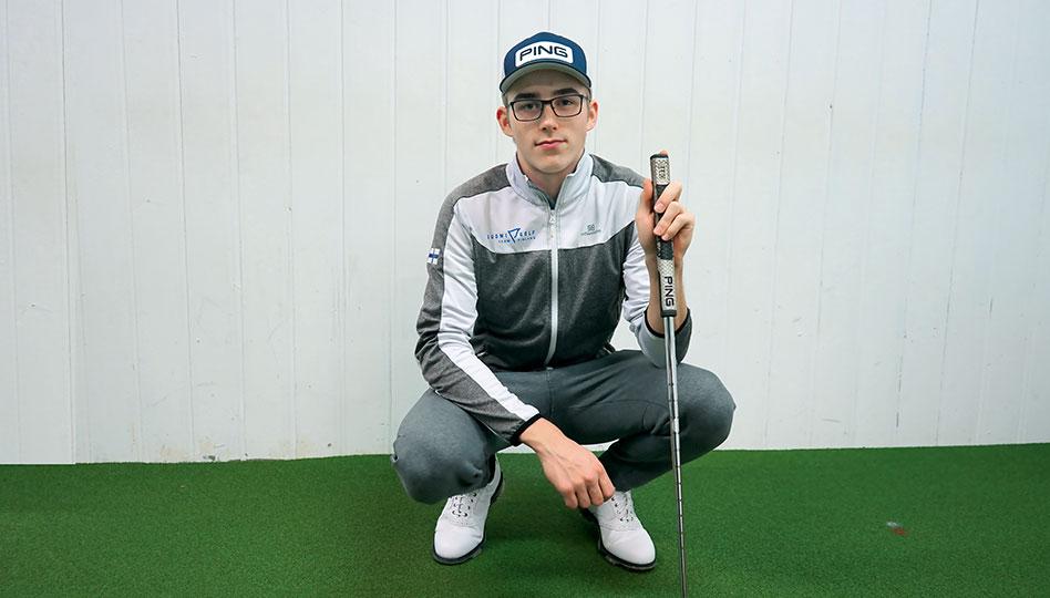 Golflupaus Anton tähtää huipulle