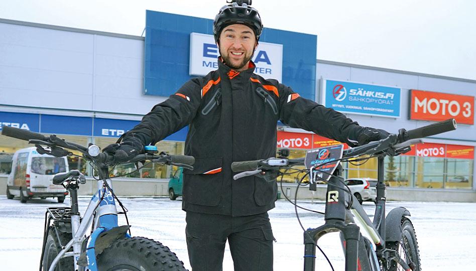 Talviajoa sähköpyörällä